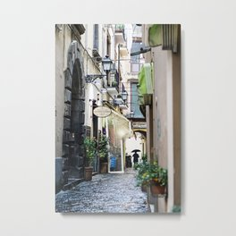 Rainy Day in Sorrento Metal Print