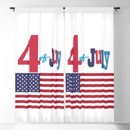 4th of July Happy Independence Day Patriotic American flag & stars Blackout Curtain