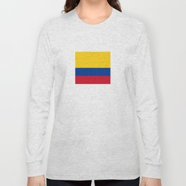 Flag of Colombia-Colombian,Bogota,Medellin,Marquez,america,south america,tropical,latine america Long Sleeve T-shirt