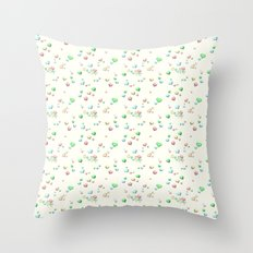Pastel Candy Hearts Throw Pillow