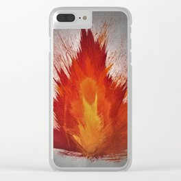 Arson Heart Clear iPhone Case