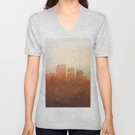 Louisville, Kentucky Skyline - In the Clouds Unisex V-Neck