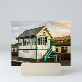 Signal Box at Sheringham Mini Art Print