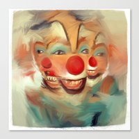 clown Canvas Prints featuring clown by robotrake