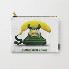 ORGANIC INVENTIONS SERIES: Vintage Banana Phone Carry-All Pouch