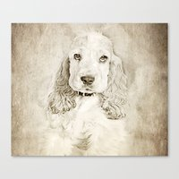 lucas david Canvas Prints featuring Lucas by khdesign