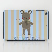 capricorn iPad Cases featuring Capricorn by Esther Ilustra