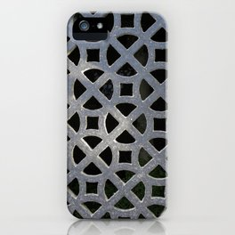 ORNATE GREY GRILLE iPhone Case
