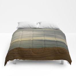 Barcelona beach Comforters