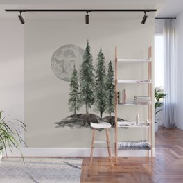 Full Moon Rising Wall Mural