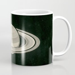 Print of a drawing by Warren De la Rue of Saturn and its moons Tethys and Enceladus - 1852 Coffee Mug