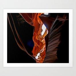 Antelope leap Art Print