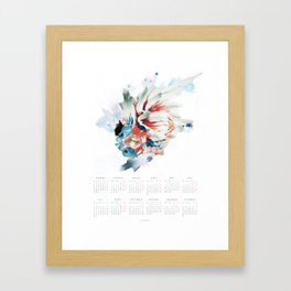 CALENDAR 2018 - FLOWER POSTER ENGLISH VERSION Framed Art Print