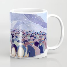 Huddling Penguins Mug