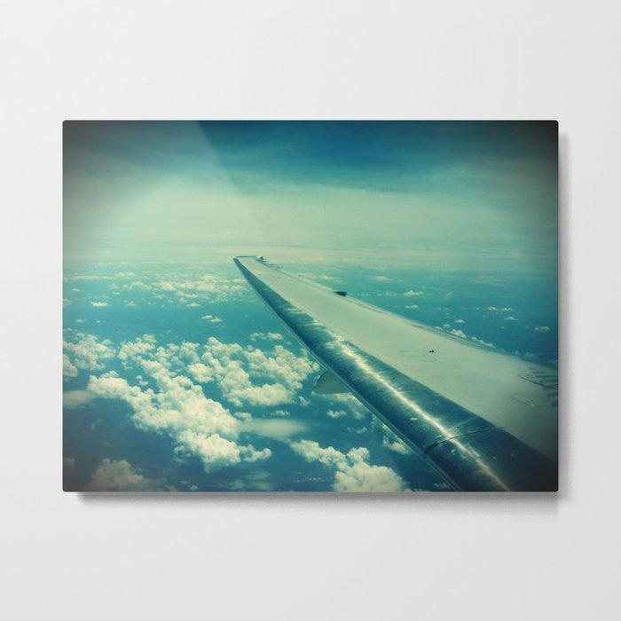 On the wings... Metal Print