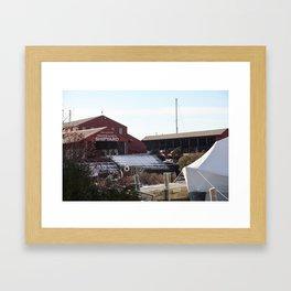 Red Barn ShipYard Framed Art Print