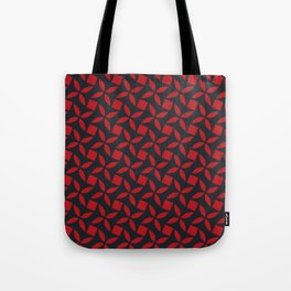 SPINNER - bright red on midnight navy blue Tote Bag