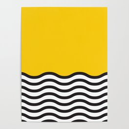 Waves of Yellow Poster