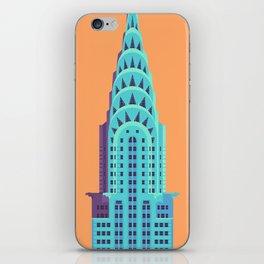 Chrysler Building New York Art Deco - Orange iPhone Skin