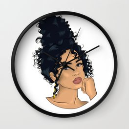 Messy Hair  Wall Clock