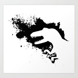 T-Rex Splash Art Print
