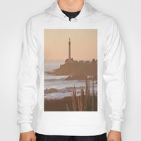 lighthouse Hoodies featuring Lighthouse by Kim Ramage