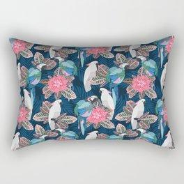 Tropical birds. Blue pattern Rectangular Pillow