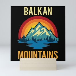 Balkan Mountains Sunset Mini Art Print