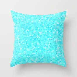 Blue triangle background Throw Pillow