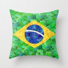 BRASIL em progresso Throw Pillow
