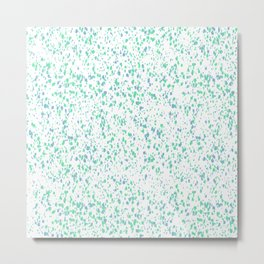 Blue Green Splatter Metal Print
