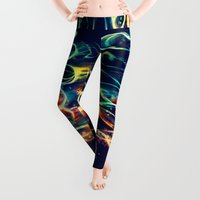 shapes Leggings featuring Leptocephalus by Alice X. Zhang