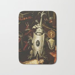 The little knight by Heironymus Bosch Bath Mat
