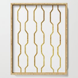 Gold Chain Serving Tray