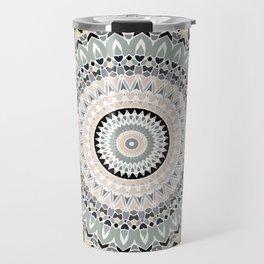 Black and Pastel Mandala Travel Mug