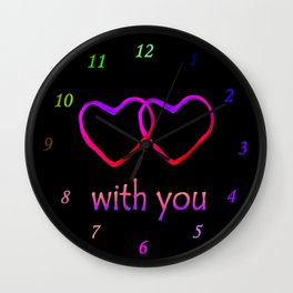 With You Pink Wall Clock