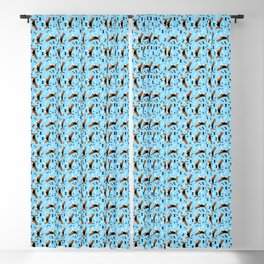Beagle Dog Breed Beagles Pattern Blue Blackout Curtain