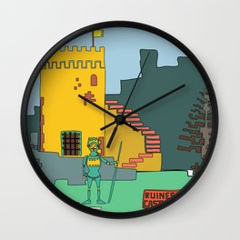 Afternoon at the Medieval Age (a) Wall Clock