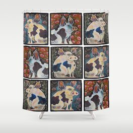 """Three Little Pigs"" Shower Curtain"