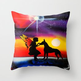 For the Love of a Great Dane Throw Pillow