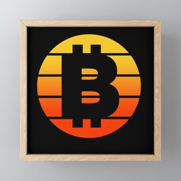 Bitcoin Retro Vintage Framed Mini Art Print