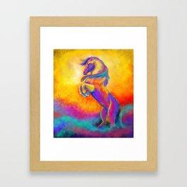 Horse jump Framed Art Print