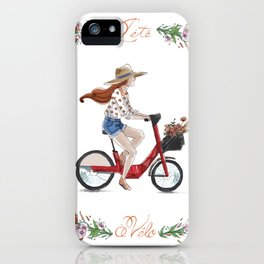 L'été à vélo iPhone Case