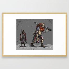Jotun and human Framed Art Print