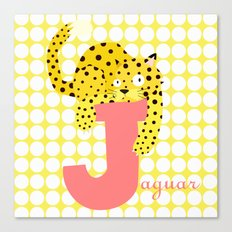 j for jaguar Canvas Print