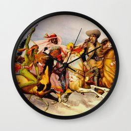 Buffalo Bill Cody - Rough Riders Wall Clock