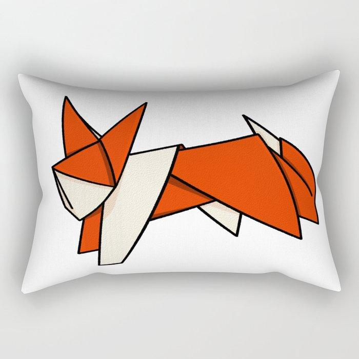 Origami Fox Rectangular Pillow
