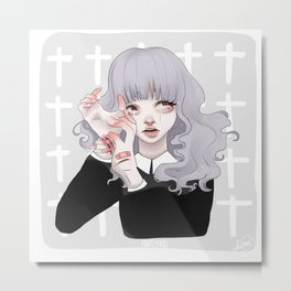 Itch Metal Print