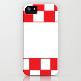 Red chess board iPhone Case