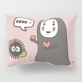 No-Face in Love of SootBall Pillow Sham